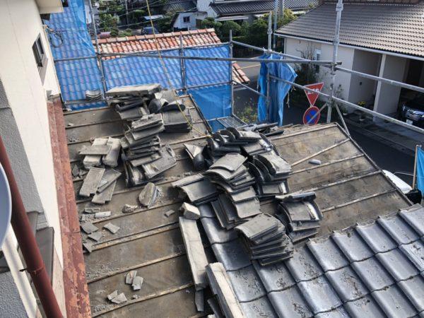 屋根葺き替え中です!